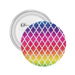 Colorful Rainbow Moroccan Pattern 2 25  Buttons
