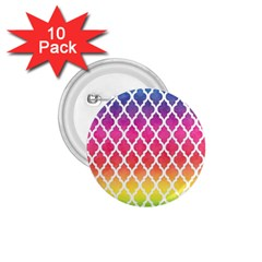 Colorful Rainbow Moroccan Pattern 1 75  Buttons (10 Pack)