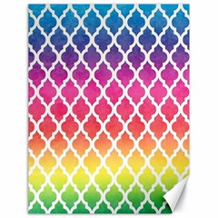 Colorful Rainbow Moroccan Pattern Canvas 18  X 24