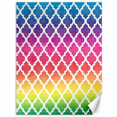 Colorful Rainbow Moroccan Pattern Canvas 36  X 48