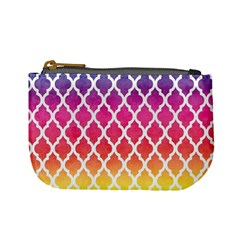 Colorful Rainbow Moroccan Pattern Mini Coin Purses