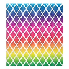 Colorful Rainbow Moroccan Pattern Shower Curtain 66  X 72  (large)