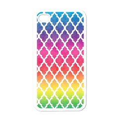 Colorful Rainbow Moroccan Pattern Apple Iphone 4 Case (white)