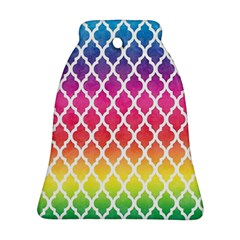 Colorful Rainbow Moroccan Pattern Ornament (bell)