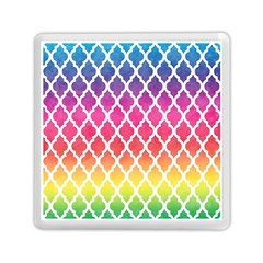 Colorful Rainbow Moroccan Pattern Memory Card Reader (square)