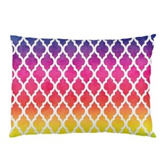 Colorful Rainbow Moroccan Pattern Pillow Case (two Sides)