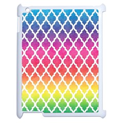 Colorful Rainbow Moroccan Pattern Apple Ipad 2 Case (white)