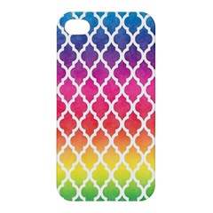 Colorful Rainbow Moroccan Pattern Apple Iphone 4/4s Hardshell Case