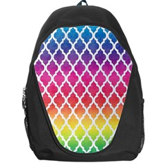 Colorful Rainbow Moroccan Pattern Backpack Bag