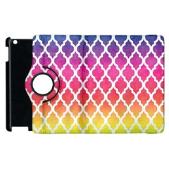 Colorful Rainbow Moroccan Pattern Apple Ipad 3/4 Flip 360 Case