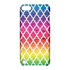 Colorful Rainbow Moroccan Pattern Apple Ipod Touch 5 Hardshell Case With Stand