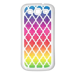 Colorful Rainbow Moroccan Pattern Samsung Galaxy S3 Back Case (white)