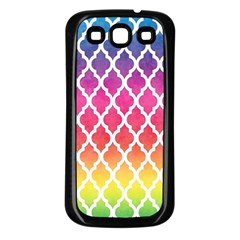 Colorful Rainbow Moroccan Pattern Samsung Galaxy S3 Back Case (black)