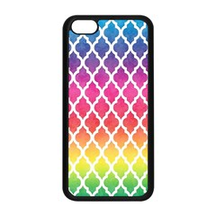 Colorful Rainbow Moroccan Pattern Apple Iphone 5c Seamless Case (black)