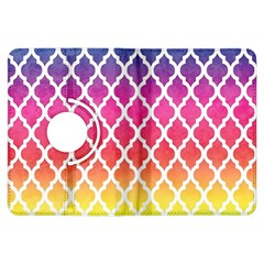 Colorful Rainbow Moroccan Pattern Kindle Fire Hdx Flip 360 Case