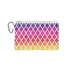Colorful Rainbow Moroccan Pattern Canvas Cosmetic Bag (s)