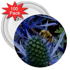 Chihuly Garden Bumble 3  Buttons (100 Pack)