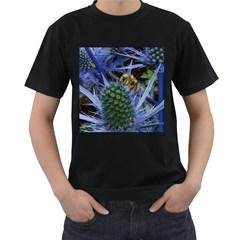 Chihuly Garden Bumble Men s T Shirt (black) (two Sided)