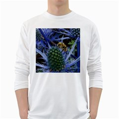 Chihuly Garden Bumble White Long Sleeve T Shirts