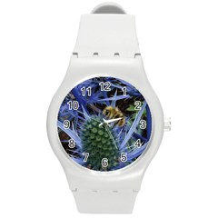 Chihuly Garden Bumble Round Plastic Sport Watch (m)
