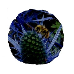 Chihuly Garden Bumble Standard 15  Premium Round Cushions
