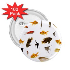 Goldfish 2 25  Buttons (100 Pack)