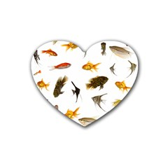 Goldfish Rubber Coaster (heart)
