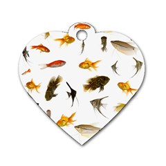 Goldfish Dog Tag Heart (two Sides)