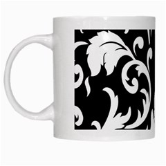 Vector Classicaltr Aditional Black And White Floral Patterns White Mugs