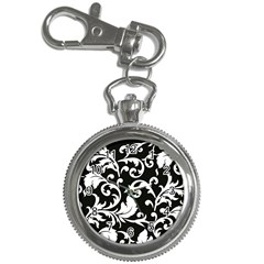 Vector Classicaltr Aditional Black And White Floral Patterns Key Chain Watches