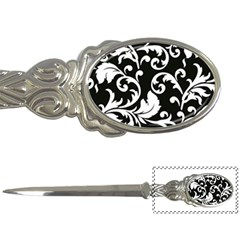 Vector Classicaltr Aditional Black And White Floral Patterns Letter Openers