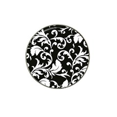 Vector Classicaltr Aditional Black And White Floral Patterns Hat Clip Ball Marker (10 Pack)