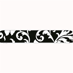 Vector Classicaltr Aditional Black And White Floral Patterns Small Bar Mats