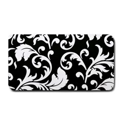 Vector Classicaltr Aditional Black And White Floral Patterns Medium Bar Mats