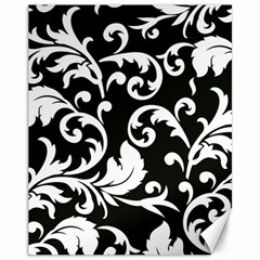 Vector Classicaltr Aditional Black And White Floral Patterns Canvas 11  X 14