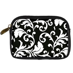 Vector Classicaltr Aditional Black And White Floral Patterns Digital Camera Cases