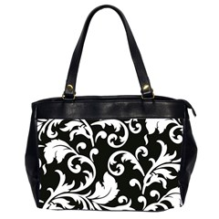 Vector Classicaltr Aditional Black And White Floral Patterns Office Handbags (2 Sides)