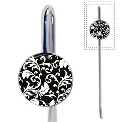 Vector Classicaltr Aditional Black And White Floral Patterns Book Mark