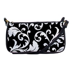 Vector Classicaltr Aditional Black And White Floral Patterns Shoulder Clutch Bags