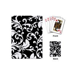 Vector Classicaltr Aditional Black And White Floral Patterns Playing Cards (mini)