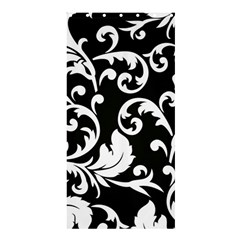 Vector Classicaltr Aditional Black And White Floral Patterns Shower Curtain 36  X 72  (stall)