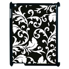 Vector Classicaltr Aditional Black And White Floral Patterns Apple Ipad 2 Case (black)