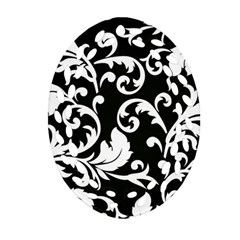 Vector Classicaltr Aditional Black And White Floral Patterns Ornament (oval Filigree)