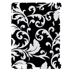 Vector Classicaltr Aditional Black And White Floral Patterns Apple Ipad 3/4 Hardshell Case (compatible With Smart Cover)
