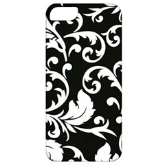 Vector Classicaltr Aditional Black And White Floral Patterns Apple Iphone 5 Classic Hardshell Case