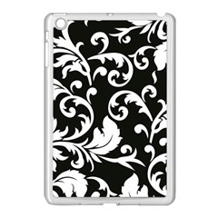 Vector Classicaltr Aditional Black And White Floral Patterns Apple Ipad Mini Case (white)