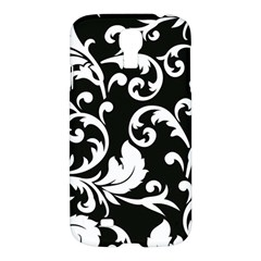 Vector Classicaltr Aditional Black And White Floral Patterns Samsung Galaxy S4 I9500/i9505 Hardshell Case