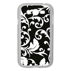Vector Classicaltr Aditional Black And White Floral Patterns Samsung Galaxy Grand Duos I9082 Case (white)