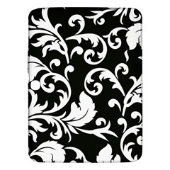 Vector Classicaltr Aditional Black And White Floral Patterns Samsung Galaxy Tab 3 (10 1 ) P5200 Hardshell Case