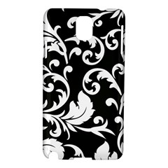 Vector Classicaltr Aditional Black And White Floral Patterns Samsung Galaxy Note 3 N9005 Hardshell Case